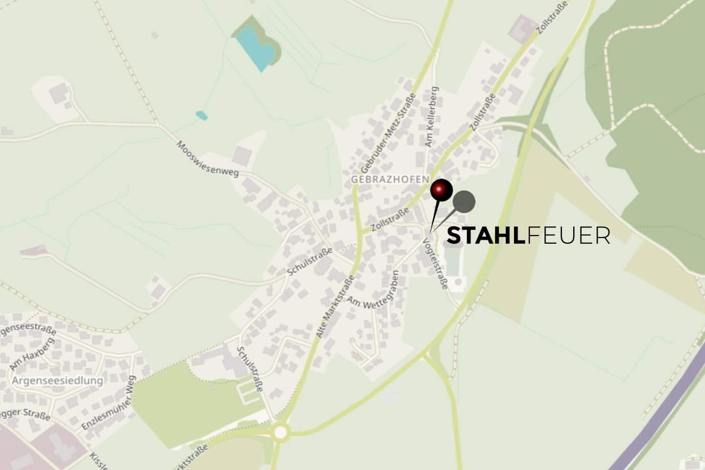 Standort Stahlfeuer Ofenwerkstatt